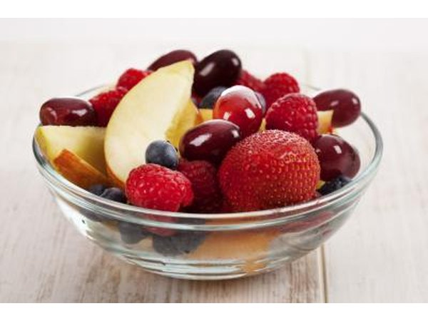A bowl of mixed fruit.