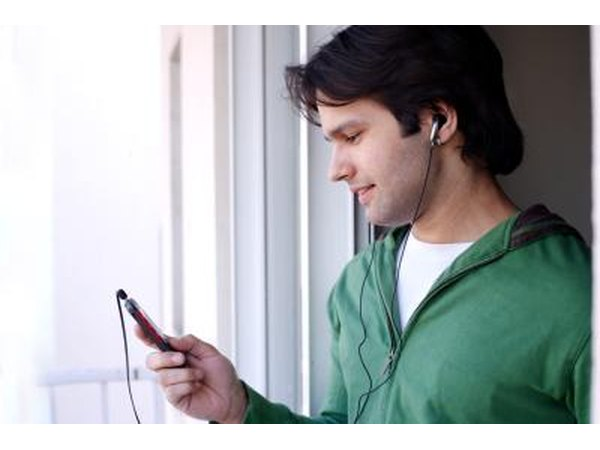 Man listening to MP3