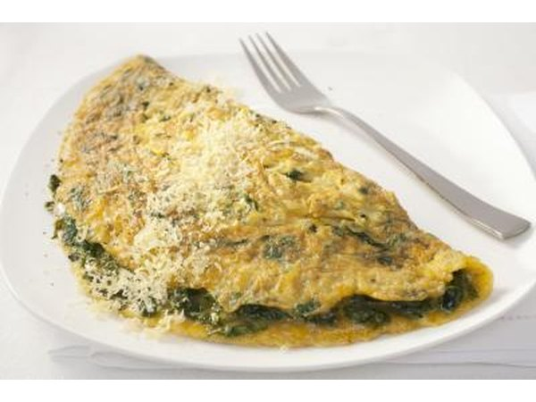 Omelet with spinach.
