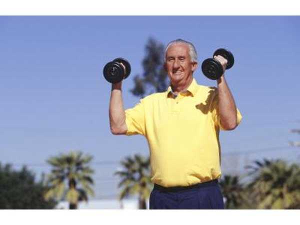 Lift weights aerobically.