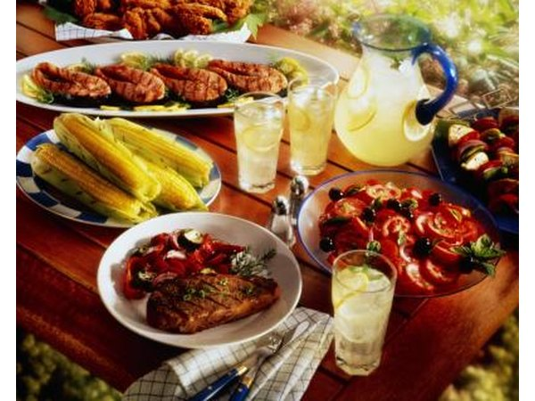 Barbecue is inexpensive and nice for an informal wedding.