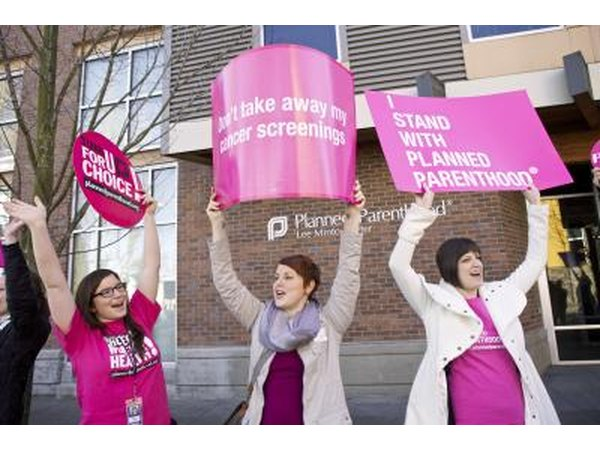 Planned Parenthood supporters outside clinic