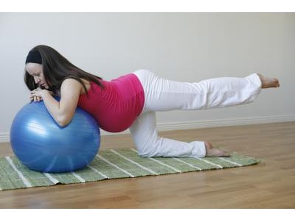 If you are pregnant, use an exercise ball to do this move.