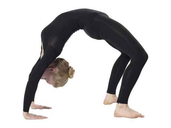 Many yoga positions are described visually, such as the Wheel Pose.