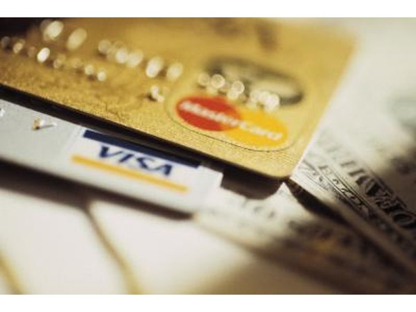 Credit cards close up.