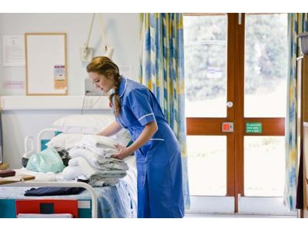 CNAs often perform duties such as changing patients' bed linens, or cleaning up after feedings or other activities.