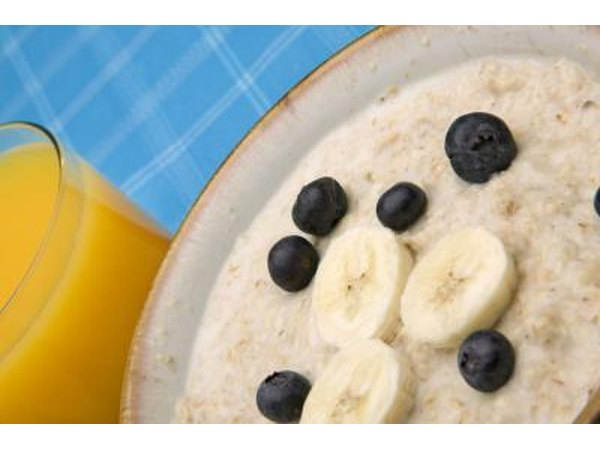 Oatmeal is a good source of fiber.