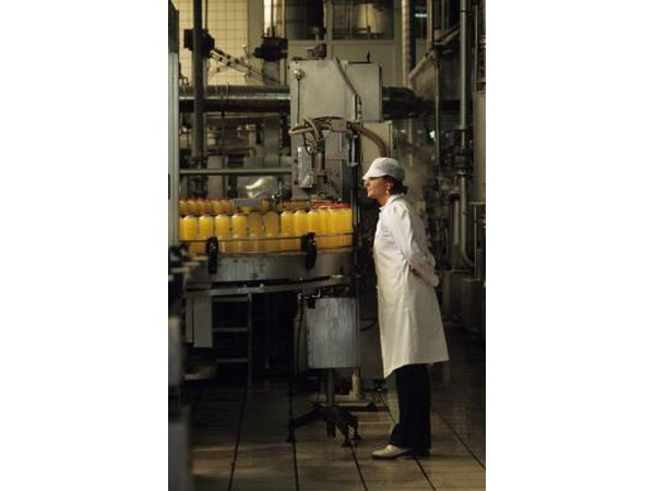 QC inspector in a bottling plant