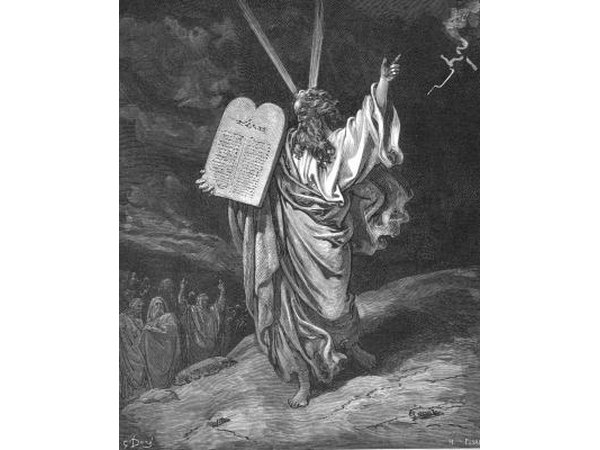 The ten commandments were held in the tabernacle.