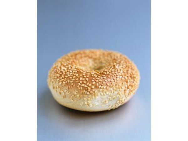 White sesame seeds are often found on bagels and breads.
