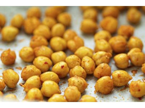 Roasted chickpeas with spices.