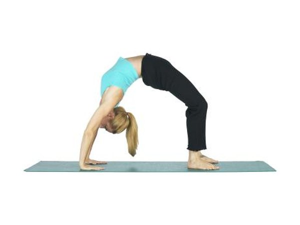 The Upward Bow pose stretches your chest to relieve tightness.