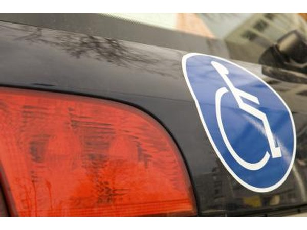 Handicap sticker.