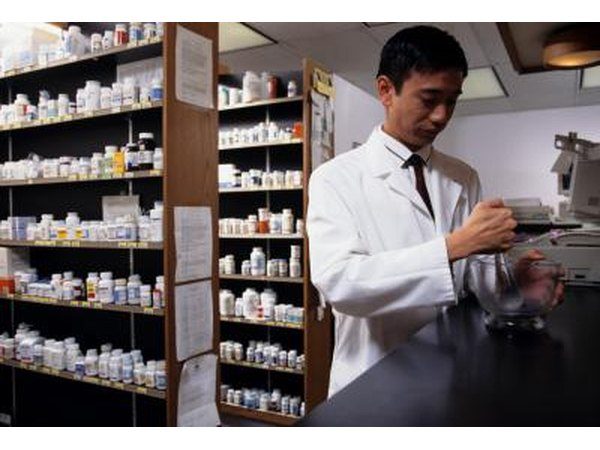 Pharmacist working in pharmacy