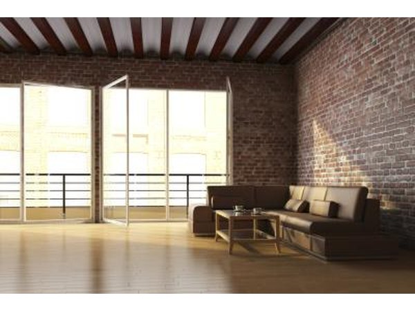 Loft with exposed brick