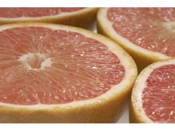 Cross section of grapefruits