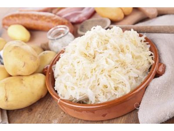 Sauerkraut and potatoes.