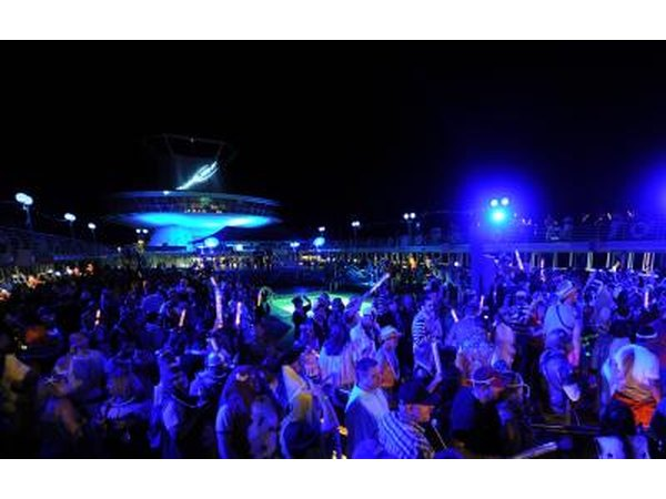 Bud Light Party Cruise at night