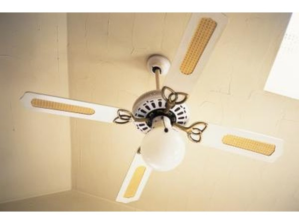 A ceiling fan with a light makes the most of a high ceiling.