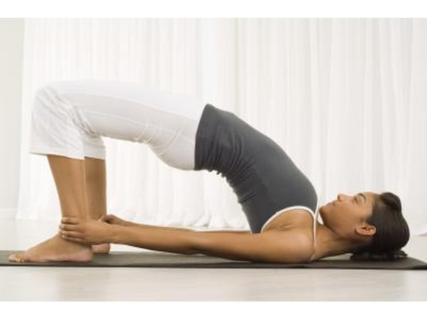 The Bridge pose opens up your chest.