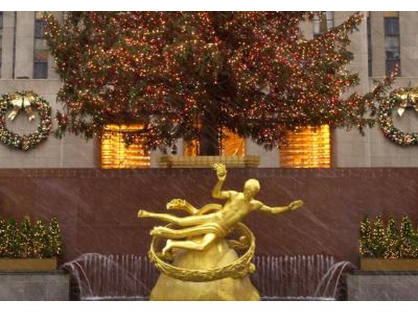 Statue of Prometheus hovers over Rockefeller Center