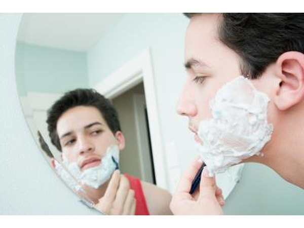 Shaving should be avoided or kept to a minimum if you have staph infection in the hair follicles.