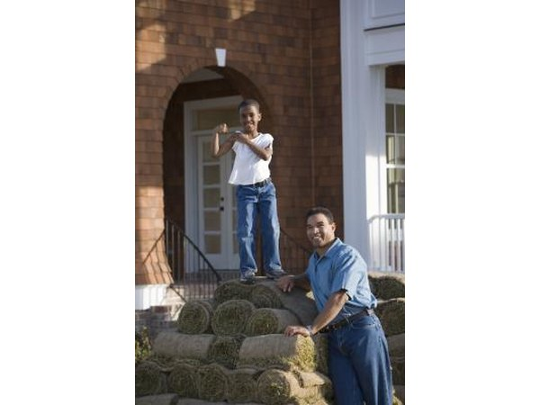 Sod is the quickest, but costliest way to establish a St. Augustine lawn.