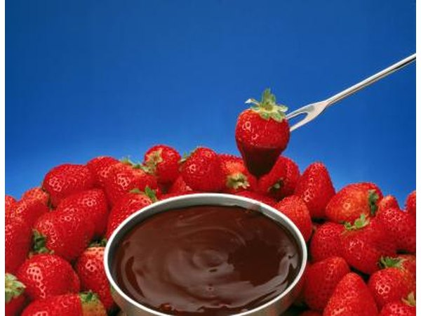 Strawberries are a common fruit to dip into chocolate