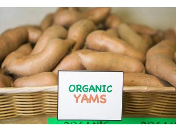 Some foods help to increase estrogen levels, such as yams.