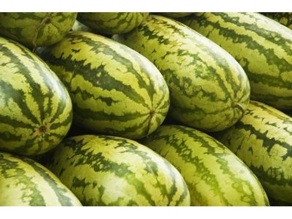 Consume watermelon, lettuce, cucumbers and berries to lose water weight.