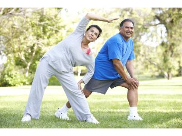 Stretching may benefit a person with hip and back pain.