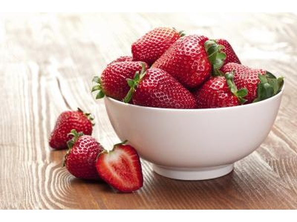 A bowl of fresh strawberries.