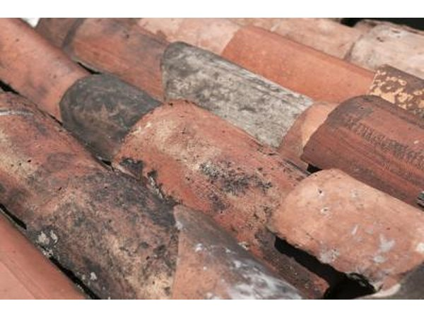 Clay tiles are made from earth that is baked in a kiln to remove moisture