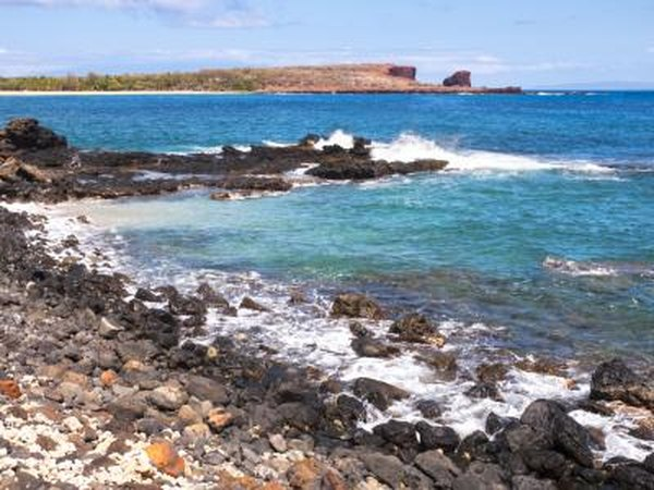 Lanai's rugged coastline.