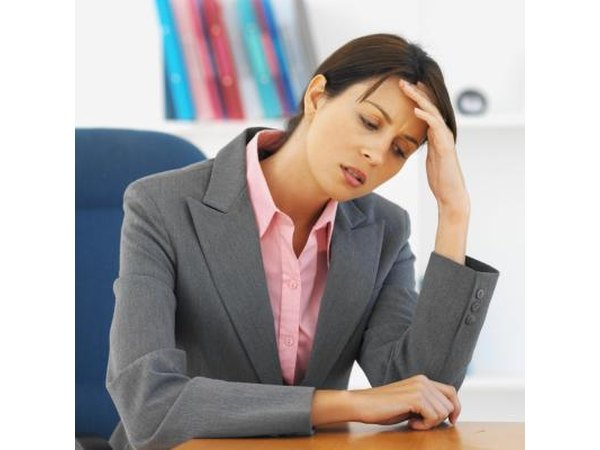 Woman feeling overwhelmed