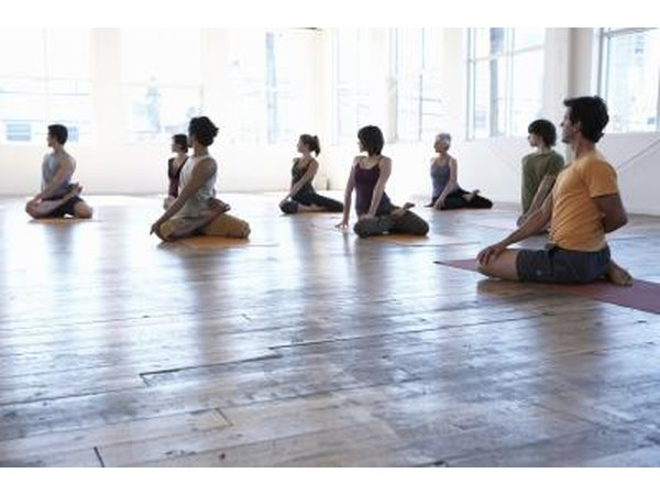 Group in yoga class