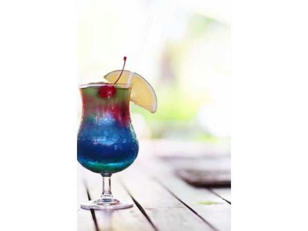 A garnished up Blue Hawaiian is almost too pretty to drink.  Almost.