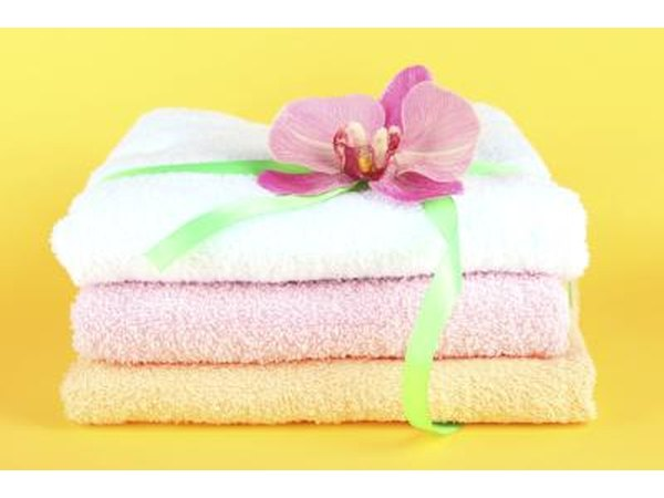 Towels tied with a ribbon