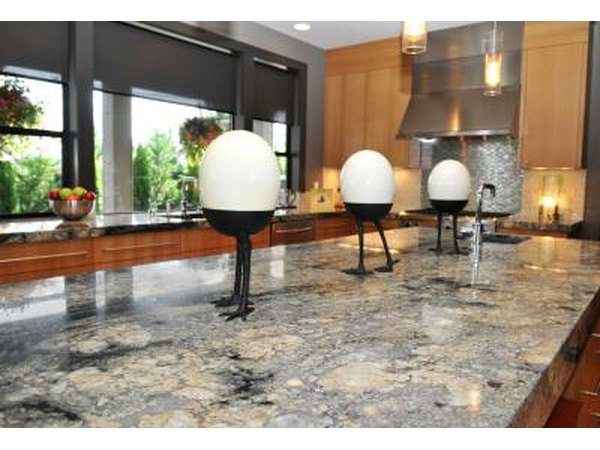 Granite adds sophistication to a kitchen or restroom.