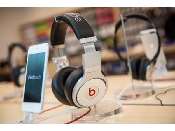 Ipod with headphones