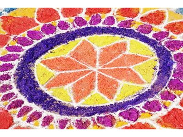 A rangoli pattern must be symmetrical.