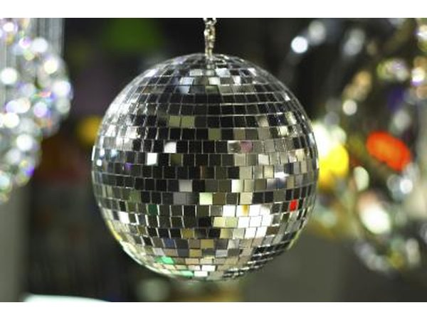 Disco ball hanging from ceiling