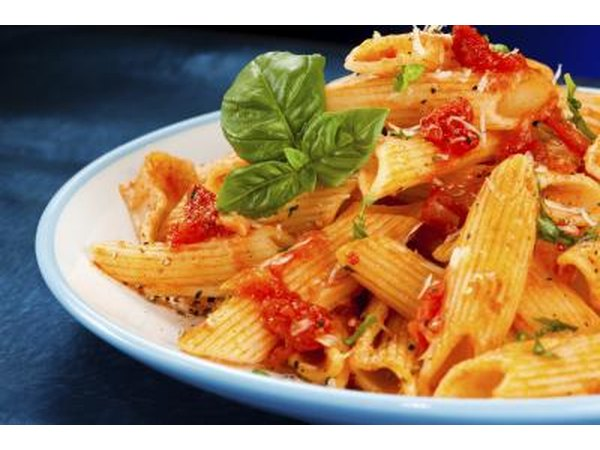 carbohydrate heavy meals like pasta need time to digest