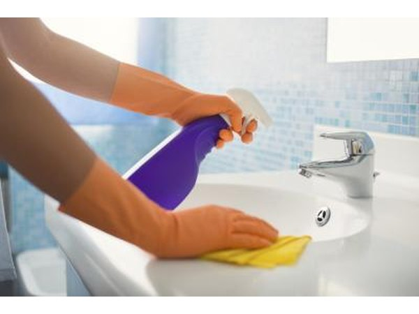 Wash all hard surfaces with antibacterial soap and water.