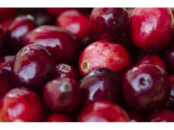 Cranberries are thought to be helpful in dissolving fat deposits.