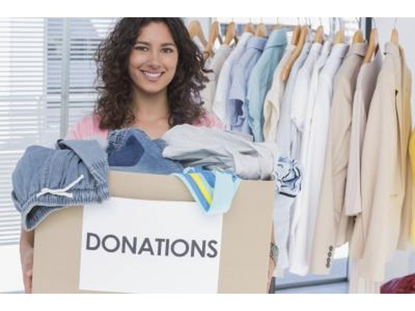 Resale stores often accept donations.