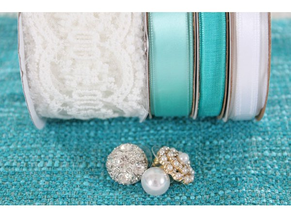 Materials needed for a bridal garter