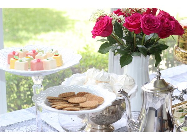 Sweet treats for a tea party.