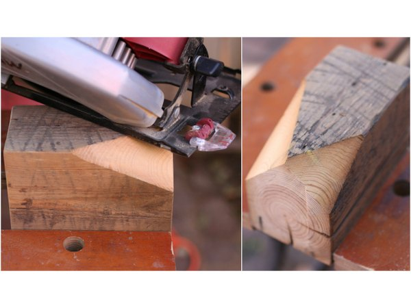 Make cuts at different starting points for an irregular, natural shape.