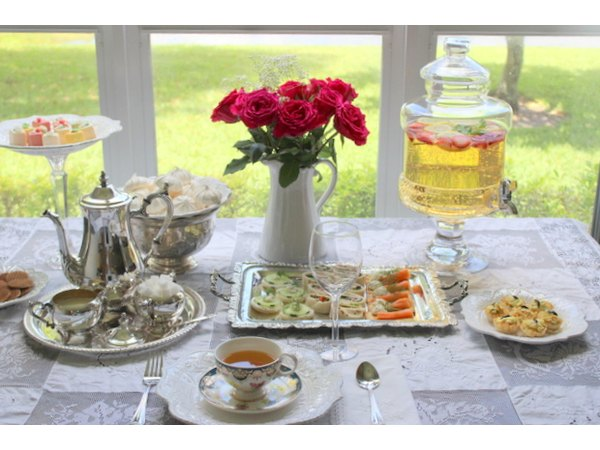 Afternoon tea can be served buffet style.